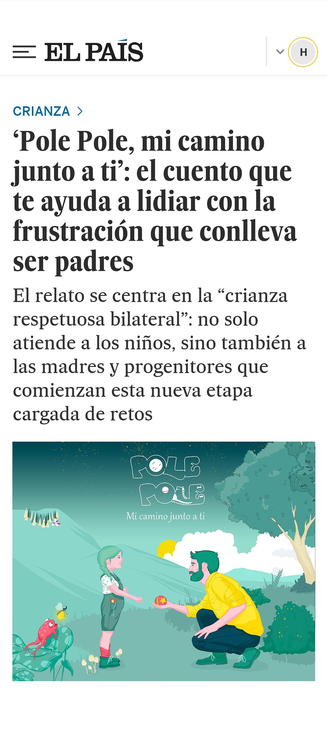 Titular artículo El País