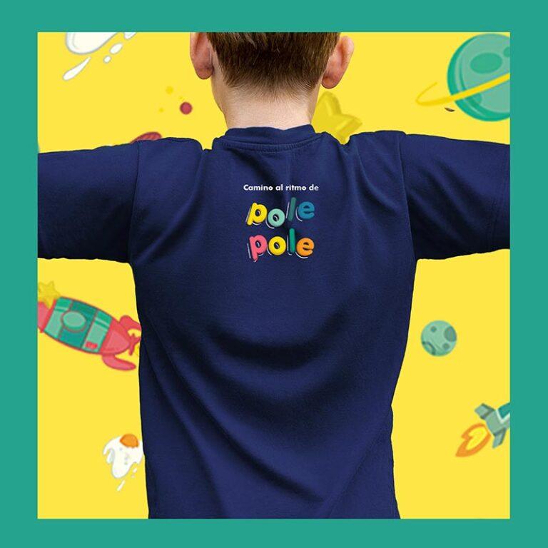 camiseta niño trasera